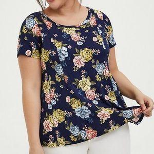 NWT Torrid Navy Floral Shirt